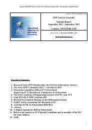 IFIP General Assembly National Report September 2011 - Short ...