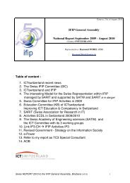 IFIP International Liaison Committee - Short Information about the ...