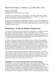 Report der Gruppe 2, Version 1.4, 22.Mai 2010, 12.45