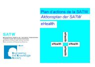 Rapport final Plan d'actions eHealth de la SATW (2010)