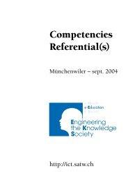 N° 4 Competencies Referential(s), septembre 2004 - Short ...