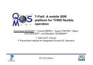 T-FleX: A mobile SDR platform for TVWS flexible operation - QoSMOS