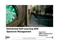 Distributed Self-Learning SON Spectrum Management - QoSMOS