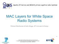 MAC Layers for White Space Radio Systems - QoSMOS