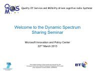 Welcome to the Dynamic Spectrum Sharing Seminar - QoSMOS