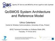 QoSMOS System Architecture and Reference Model
