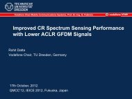 Improved CR Spectrum Sensing Performance with Lower ... - QoSMOS