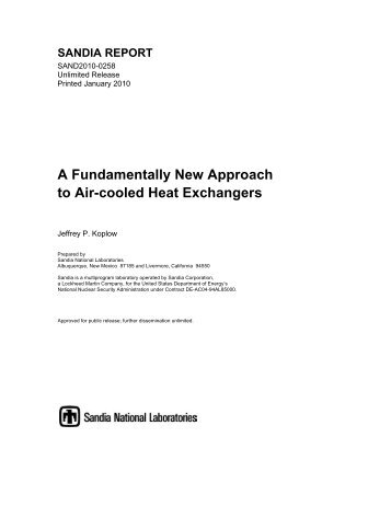 A Fundamentally New Approach to Air-cooled Heat Exchangers