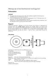 Mätningar på en liten likströmsmotor med kuggväxel