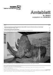 Amtsblatt Nr. 28/2013 vom 02.08.2013 - Hagen