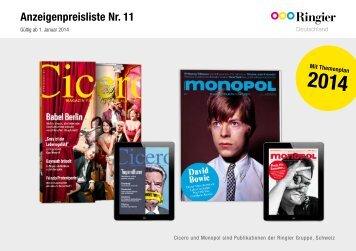 Preisliste 2014 - Monopol