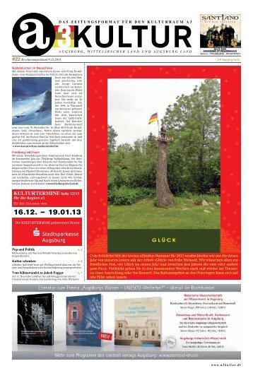 s Stadtsparkasse Augsburg KULTURTERMINE Seite 12/13 - a3kultur