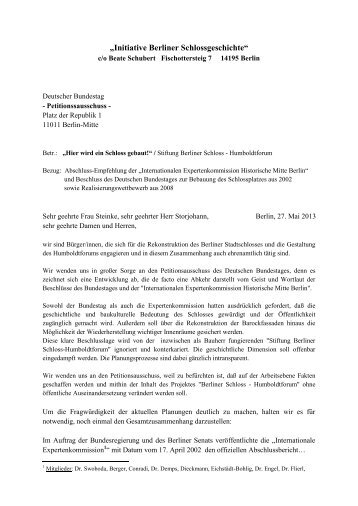 Deutscher bundestag petition
