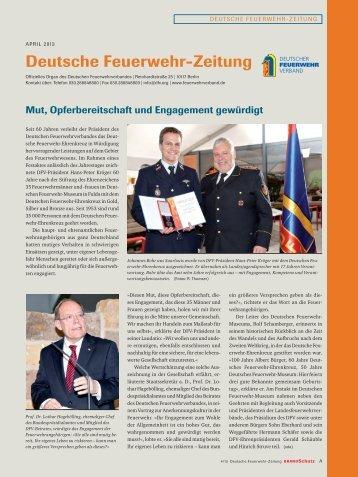 April 2013 - Deutscher Feuerwehrverband