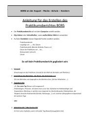 So soll dein Praktikumsbericht gegliedert sein - August-Macke ...