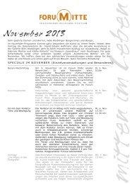 Das Programm im November 2013 - Stadt Waiblingen