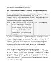 Vorderasiatische Archäologie, Bachelorstudiengang Modul 1 ...