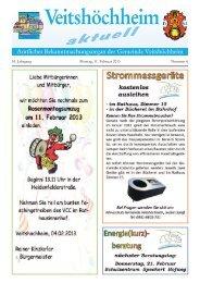 53. Jahrgang Montag, 11. Februar 2013 Nummer 6 - Veitshöchheim
