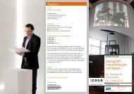 Veranstaltungsfaltblatt Szenografie-Kolloquium 2014 - Dasa
