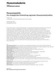 Programm Museumspolitik - Universalmuseum Joanneum