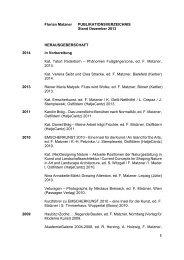 Publikationen - Akademie der Bildenden Künste München