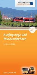 Ausflugszüge und Museumsbahnen - zum Rheinland-Pfalz Takt