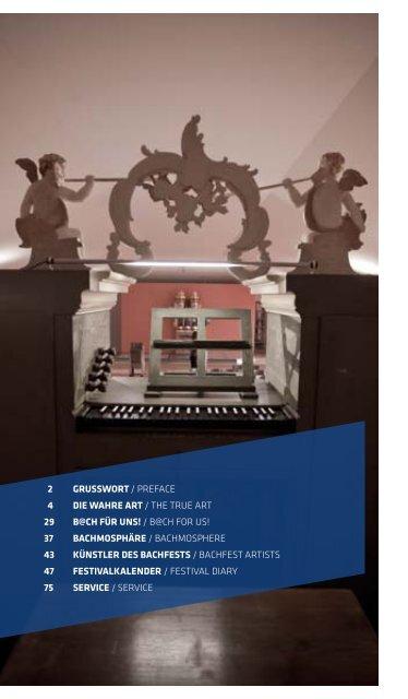 bachfesT - Bach-Archiv Leipzig