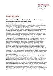 Pesseinformation - Historisches Museum Frankfurt - Frankfurt am Main