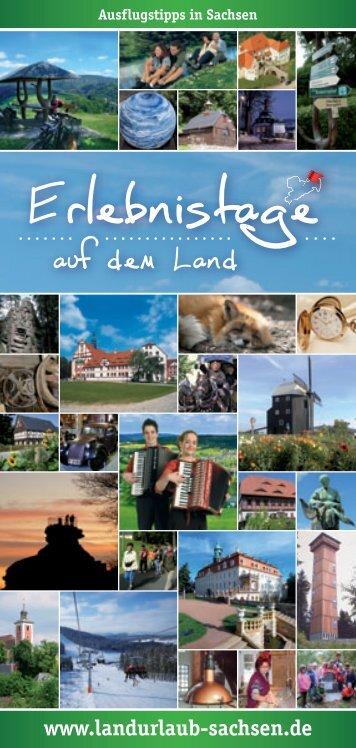 Erlebnistage auf dem Land (Heft 1) - Landurlaub in Sachsen eV