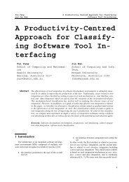 A Productivity-Centred Approach for Classify - Faculty of Information ...