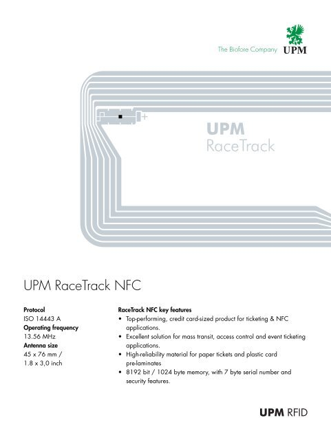 UPM RaceTrack NFC - IC-TAG Solutions