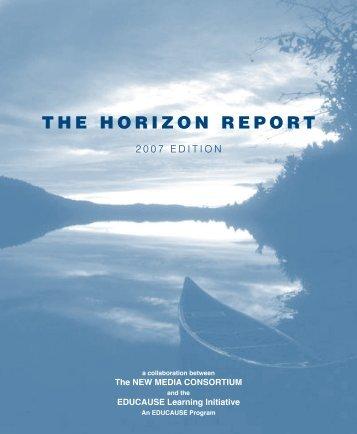 THE HORIZON REPORT - New Media Consortium