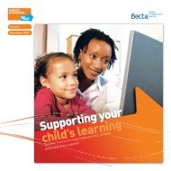 Supporting your child's learning - ICT Digital Literacy
