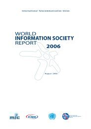 World Information Society Report 2006 - ITU