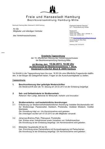 19. VerkA - erw. TO.pdf - Hamburg-Mitte-Dokumente