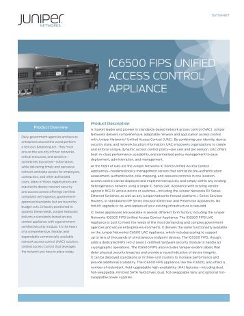 IC6500 FIPS Unified Access Control Appliance - ICT Networks