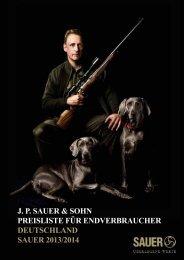 Preisliste 2013 - Sauer