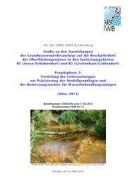 Studie Wasserbeschaffenheit Nordraum Spree - LMBV