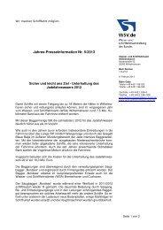 Jahres-Presseinformation 5/2013 - Wasser- und ...