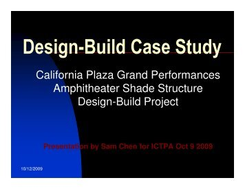 Design-Build Case Study - ictpa-scc
