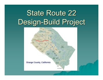 State Route 22 Design-Build Project - ictpa-scc
