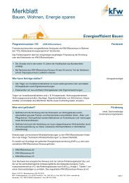 KfW - Merkblatt 153 Energieeffizient Bauen - Geothermie ...