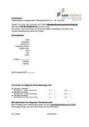 20. Juli 2012 Senden Sie bitte das Formular via E-Mail info@geoth