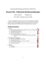 Versuch 302 – Elektrische Brückenschaltungen