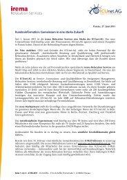 Kundeninformation: Gemeinsam in eine starke Zukunft - ICUnet.AG