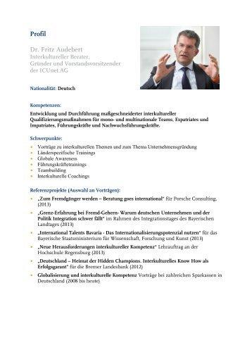 Dr. Fritz Audebert - ICUnet.AG