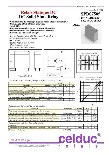 Relais Statique DC DC Solid State Relay SPD07505