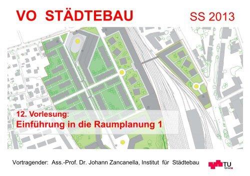 12. Vorlesung: Raumplanung 1 VO Städtebau SS 13 - lamp