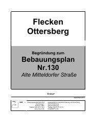 Begründung ist dem Bebauungsplan Nr. 130 - Flecken Ottersberg