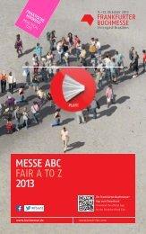 Das Messe ABC 2013 - Frankfurter Buchmesse